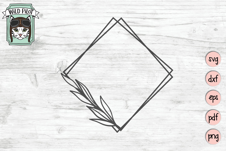 Leaf Frame SVG file, Leaf Border, Monogram Frame, Shapes example image 4