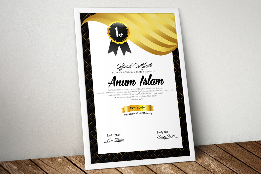 Professional Certificate Template example image 1