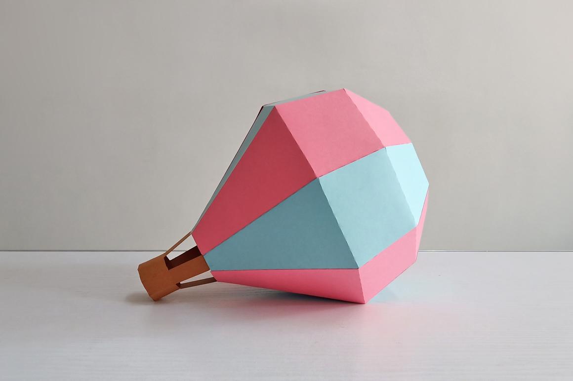DIY Papercraft Hot air baloon decorations,cricut files,svg example image 3