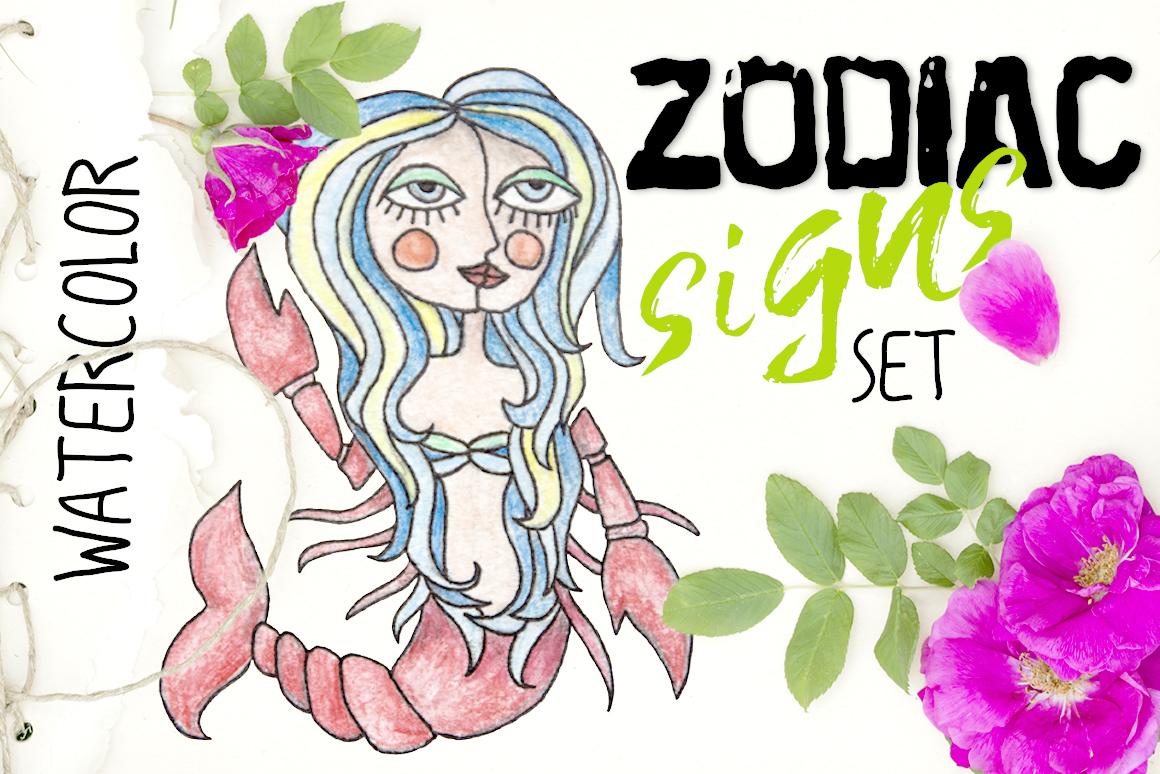 Zodiac signs set example image 1