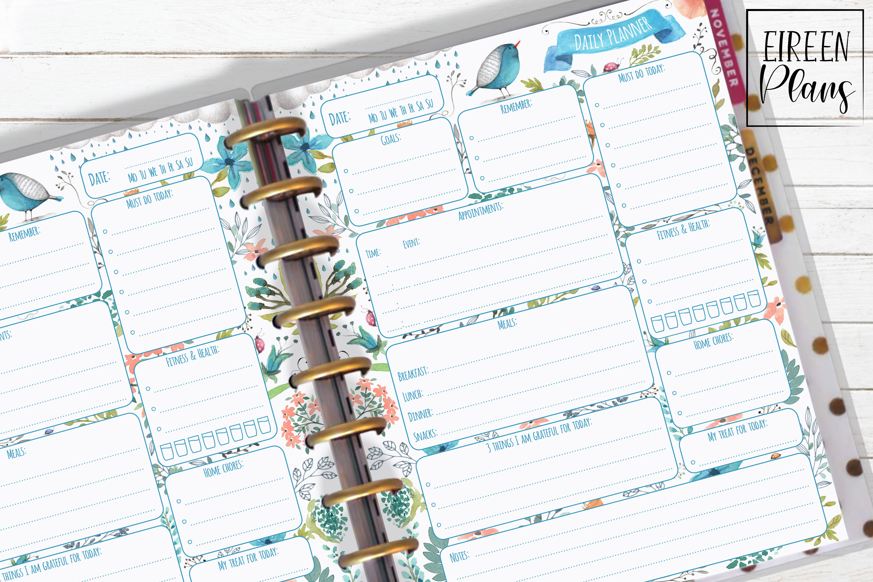 Daily Printable for Classic Happy Planner example image 1
