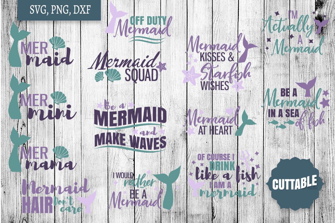Mermaid SVG bundle, Mermaid cut file bundle, Ocean cut files example image 1