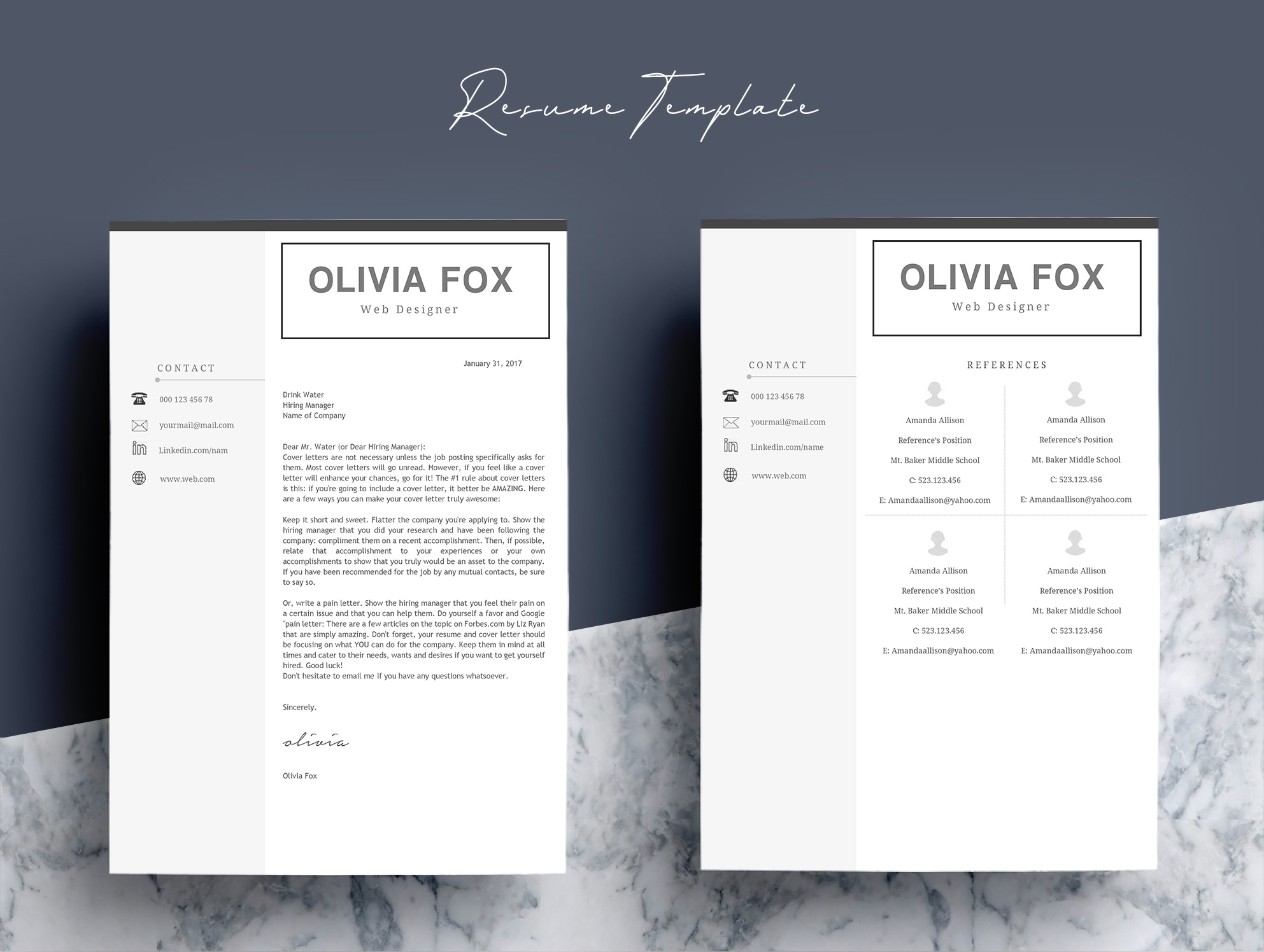Clean Resume Template 4 Pages example image 4