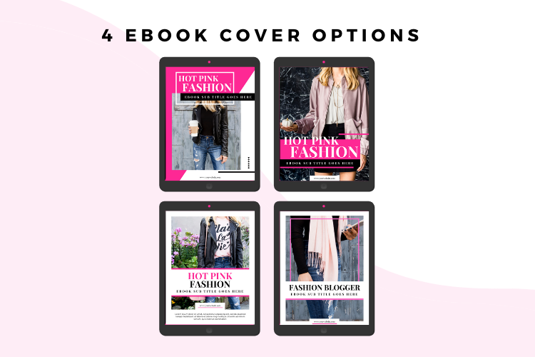 Hot Pink Fashion Canva template Ebook example image 3