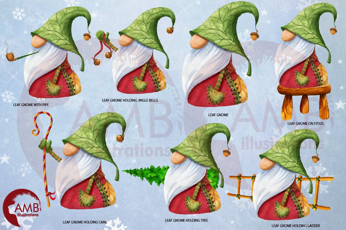 Christmas Gnomes, Scandinavian Gnomes, Watercolour Gnomes, example image 4