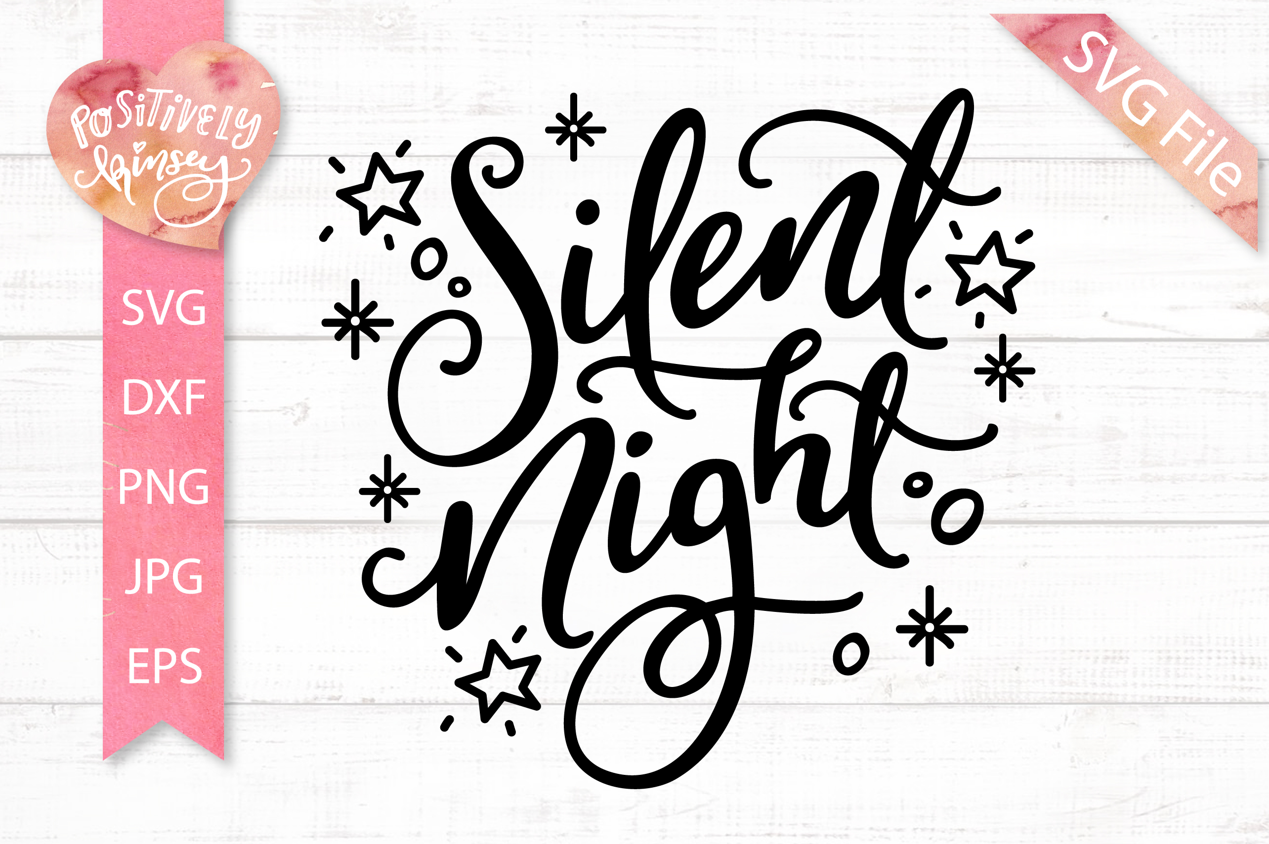 Silent Night SVG DXF PNG EPS, Christmas Song SVG Design example image 2