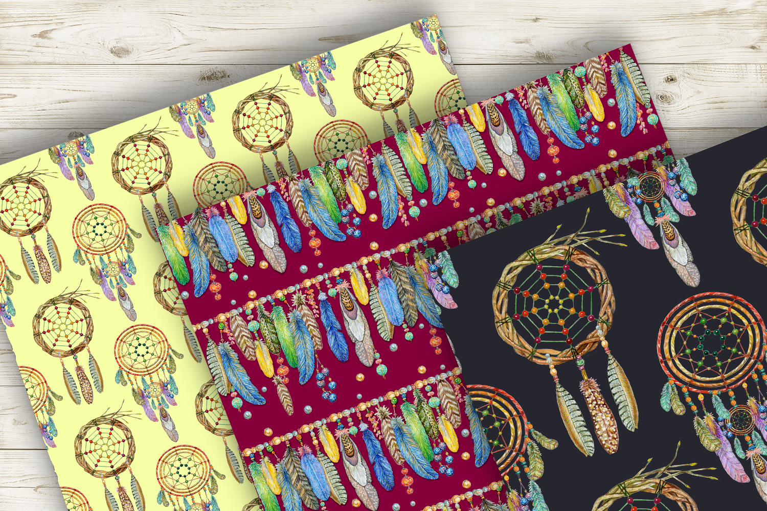 Dream hunters.Seamless patterns example image 5