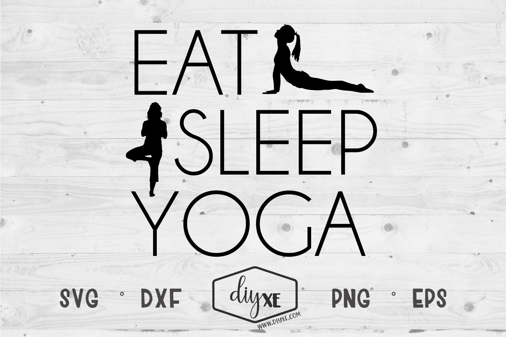 Eat Sleep Yoga - A Yoga SVG Cut File example image 2