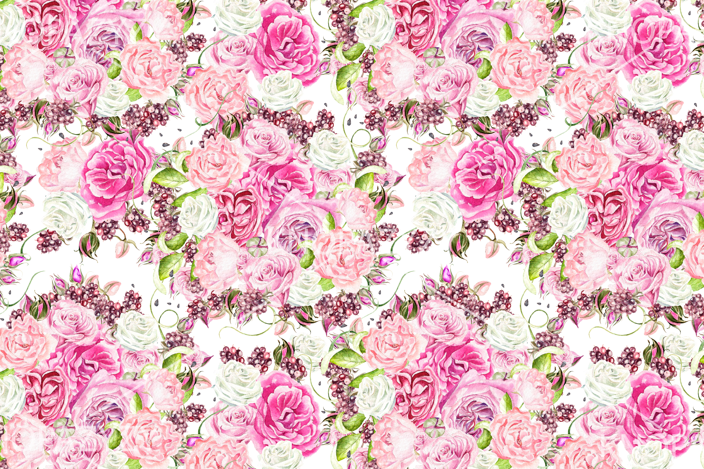 15 Hand Drawn Watercolor PATTERNS example image 10