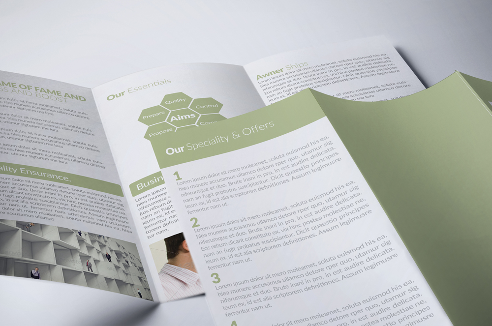 Business Corporate Trifold Brochure example image 2