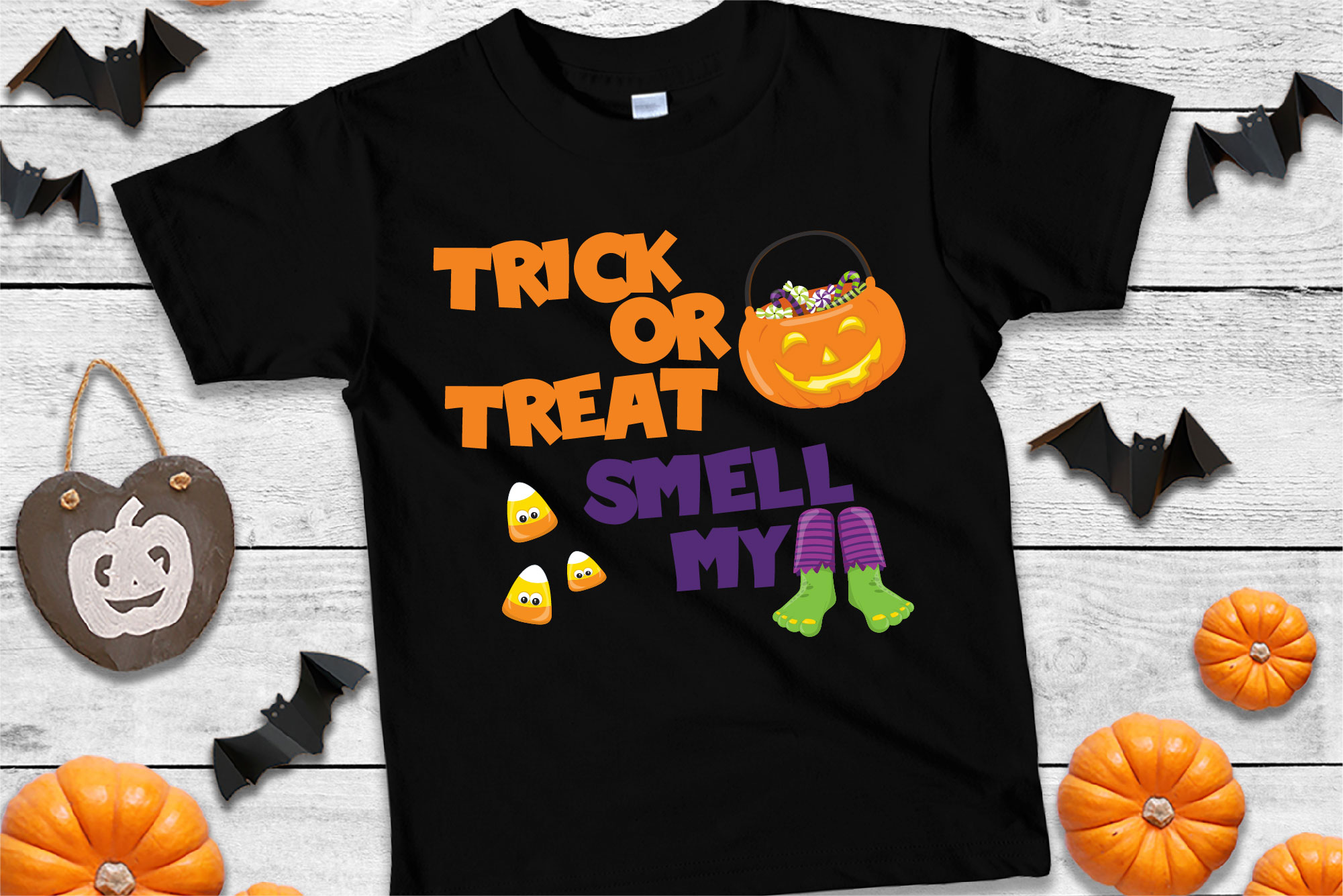 Trick Or Treat Smell My Feet SVG Sublimation, Halloween SVG example image 1