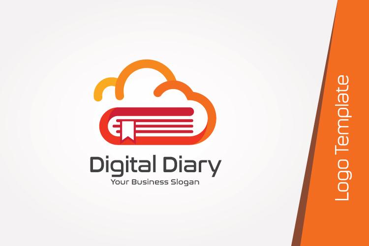 Cloud Book Logo Template example image 4