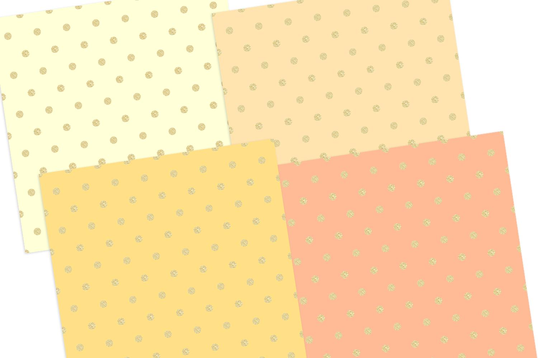 Gold Pastel Polka Dot Pattern Digital Papers example image 4