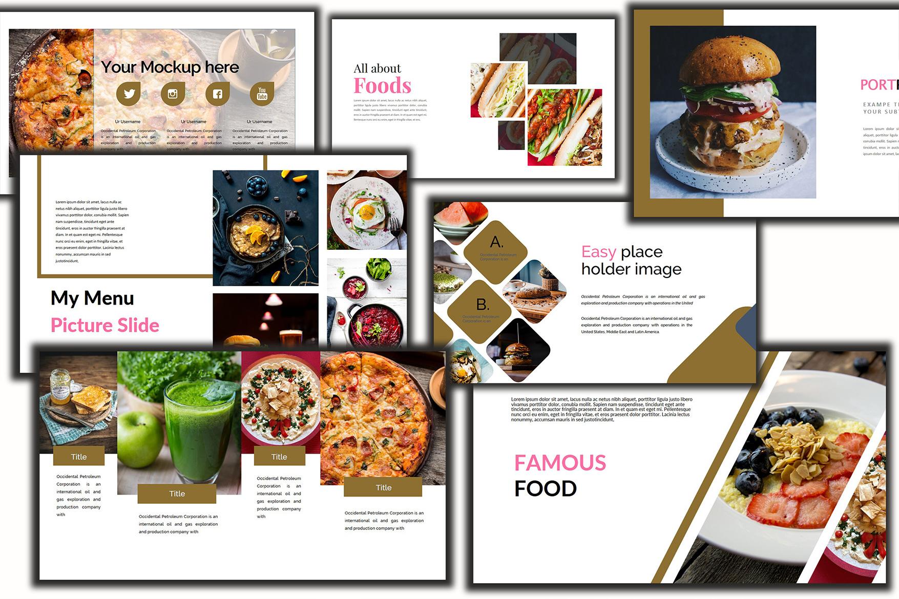 Delicious Food - Google Slides Presentation example image 5