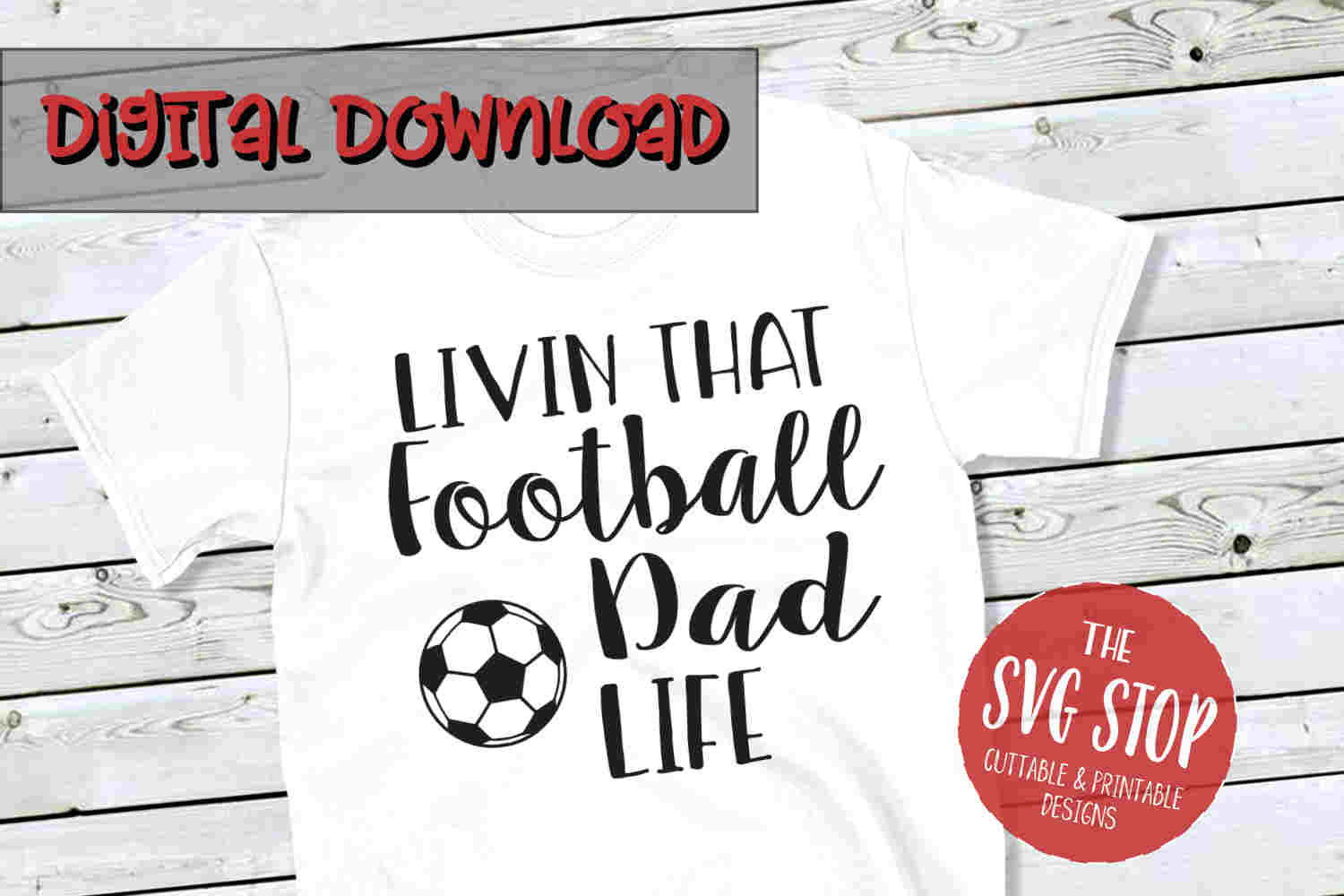Football-Soccer Dad -SVG, PNG, DXF example image 1
