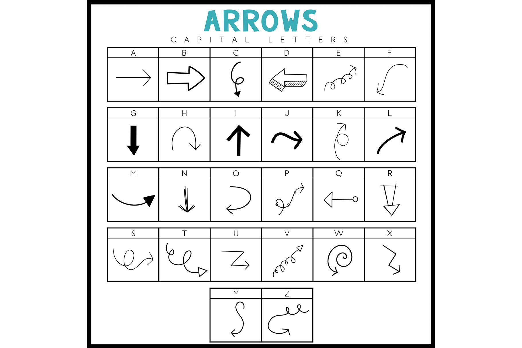Arrows - A Doodle Font example image 3