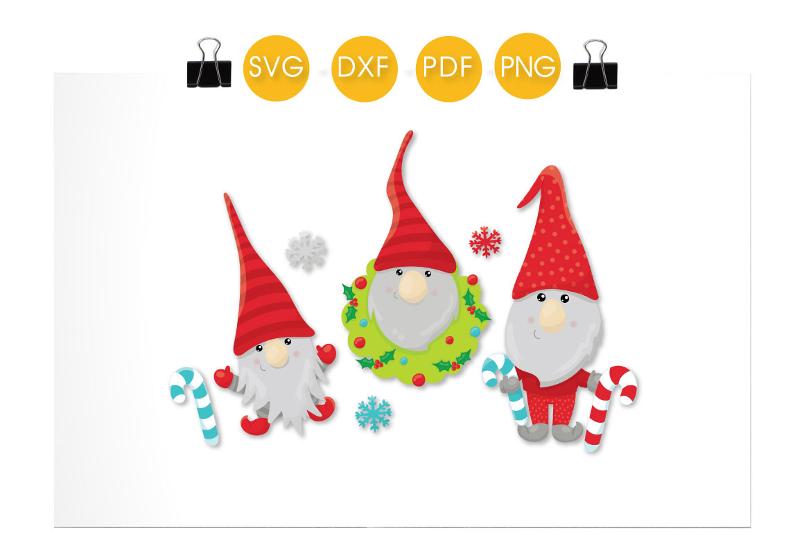 Christmas Gnome Svg.Winter Christmas Gnomes Cutting Files Svg Dxf Pdf Eps Included Cut Files For Cricut And Silhouette Cutting Files Sg