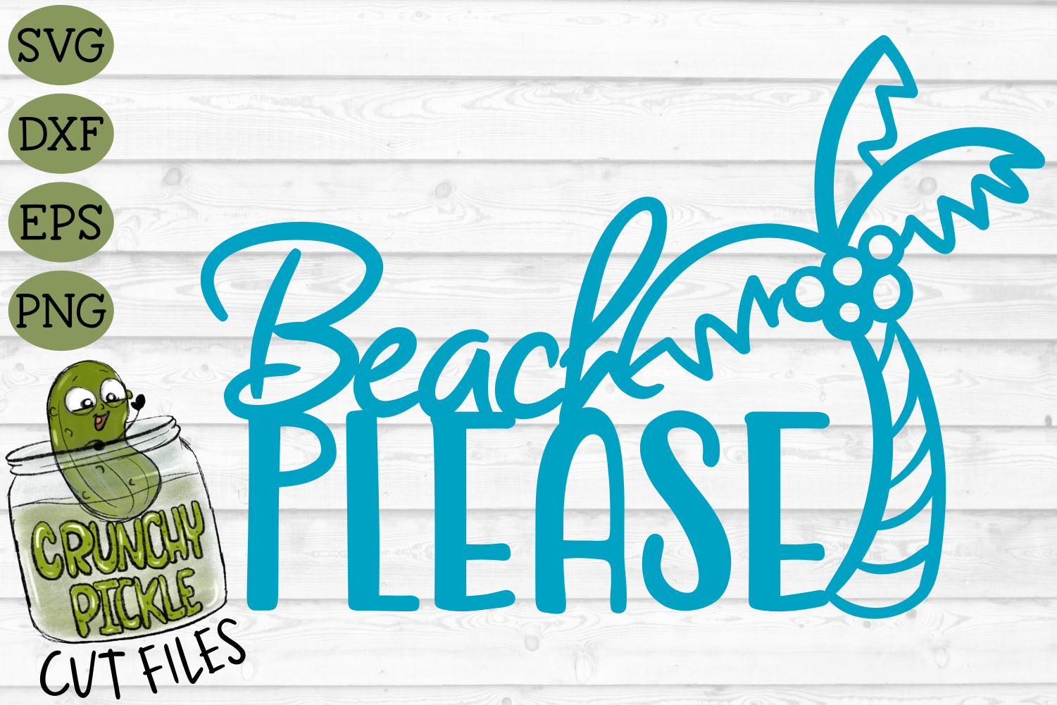 Beach Please Palm Tree SVG Cut File example image 2