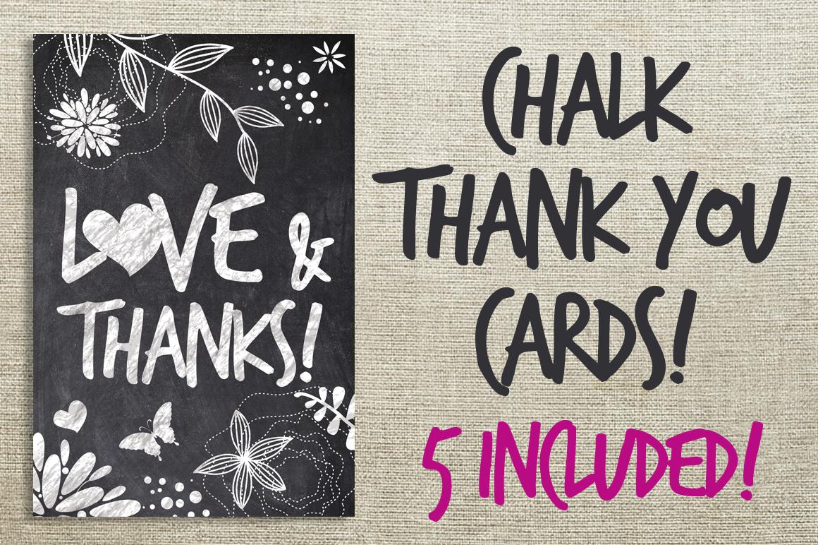 Chalk Thank You Cards Bundle example image 1