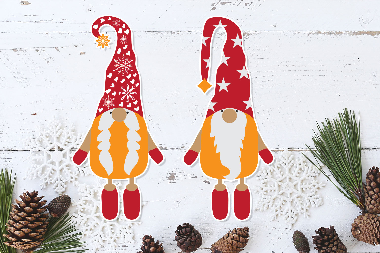 Christmas Gnomes SVG - Vector example image 3