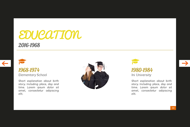 The Biography Presentation Templates example image 5