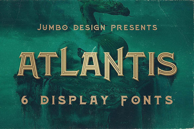 Atlantis - Vintage Style Font example image 1