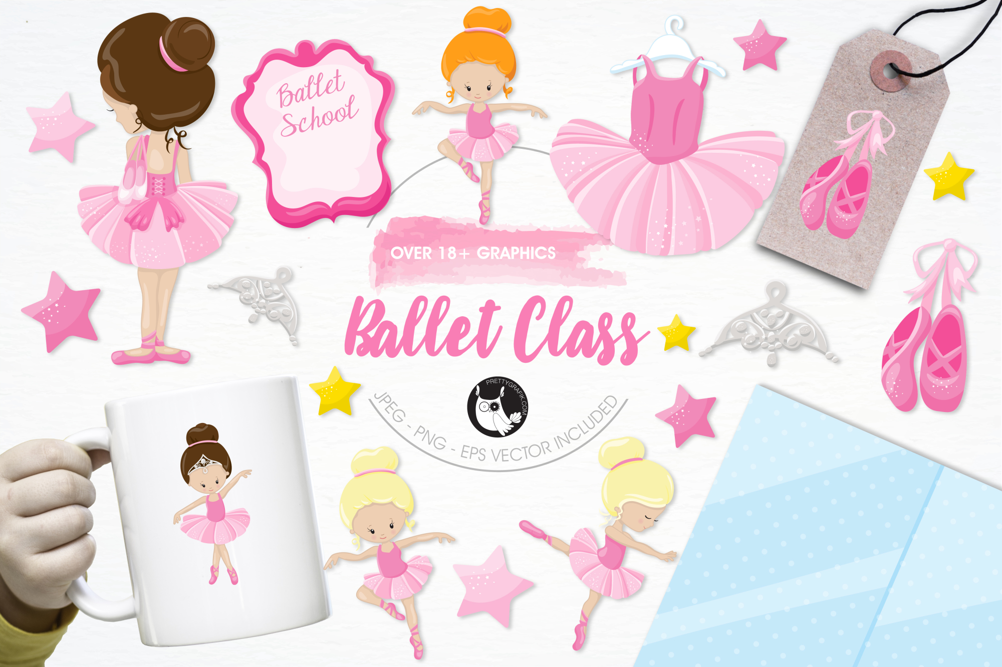 Ballet Class  graphics and illustrations example image 1