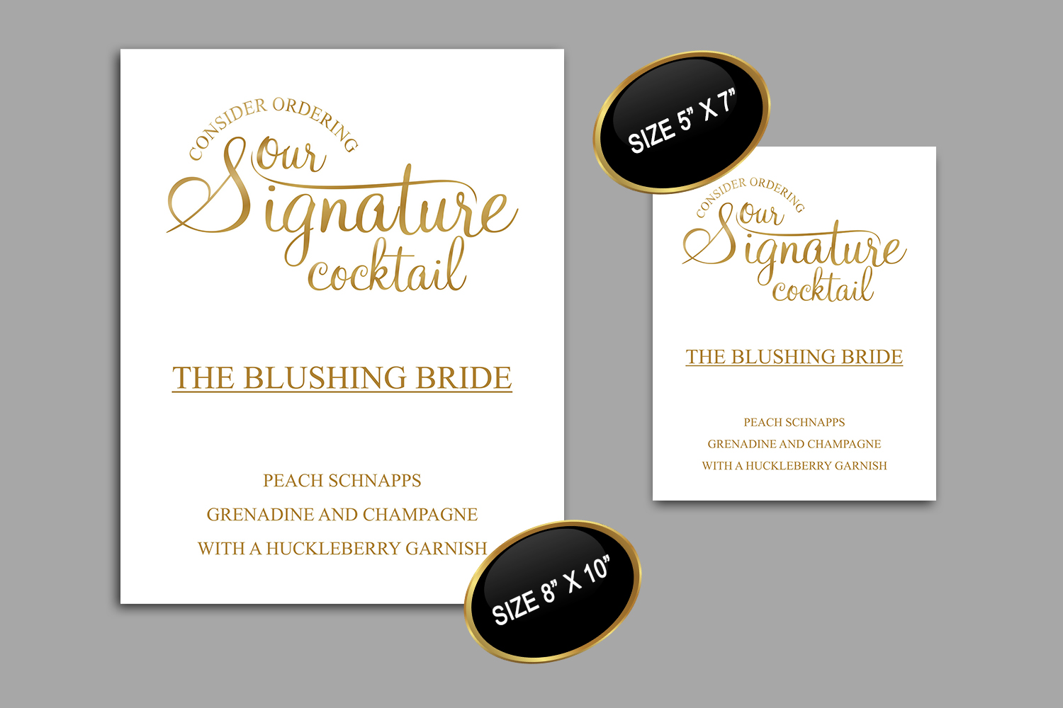 Gold Signature Cocktail Sign Printable, DAD_14 example image 4