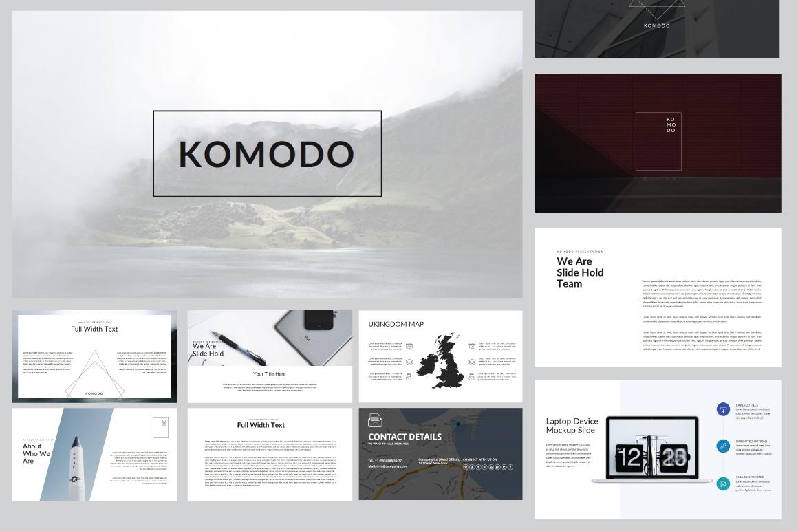 Komodo Minimal Powerpoint Template example image 1