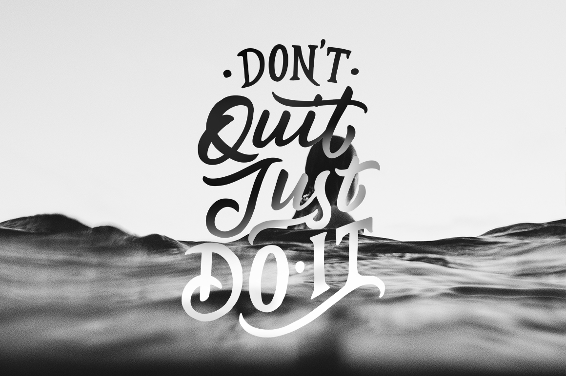Inspirational Quotes Lettering example image 4