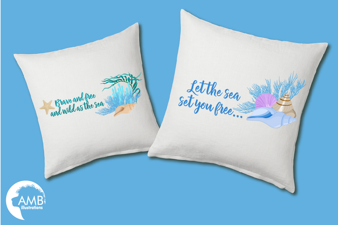 Down by the sea clipart, graphics, illustrations AMB-2342 example image 2