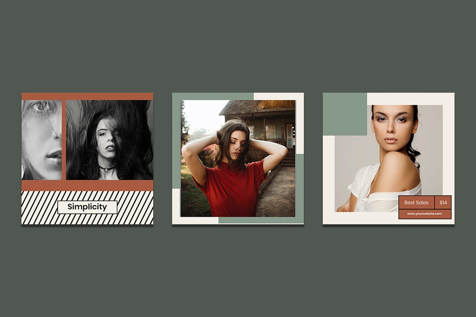 Fashion Instagram Templates example image 2