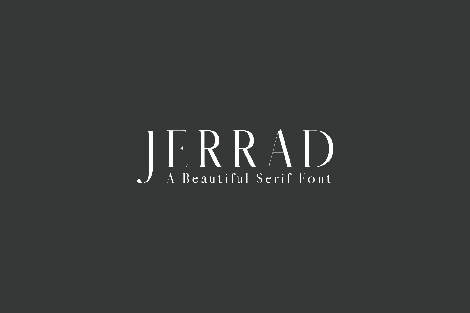 Jerrad Beautiful Serif Font Family example image 1