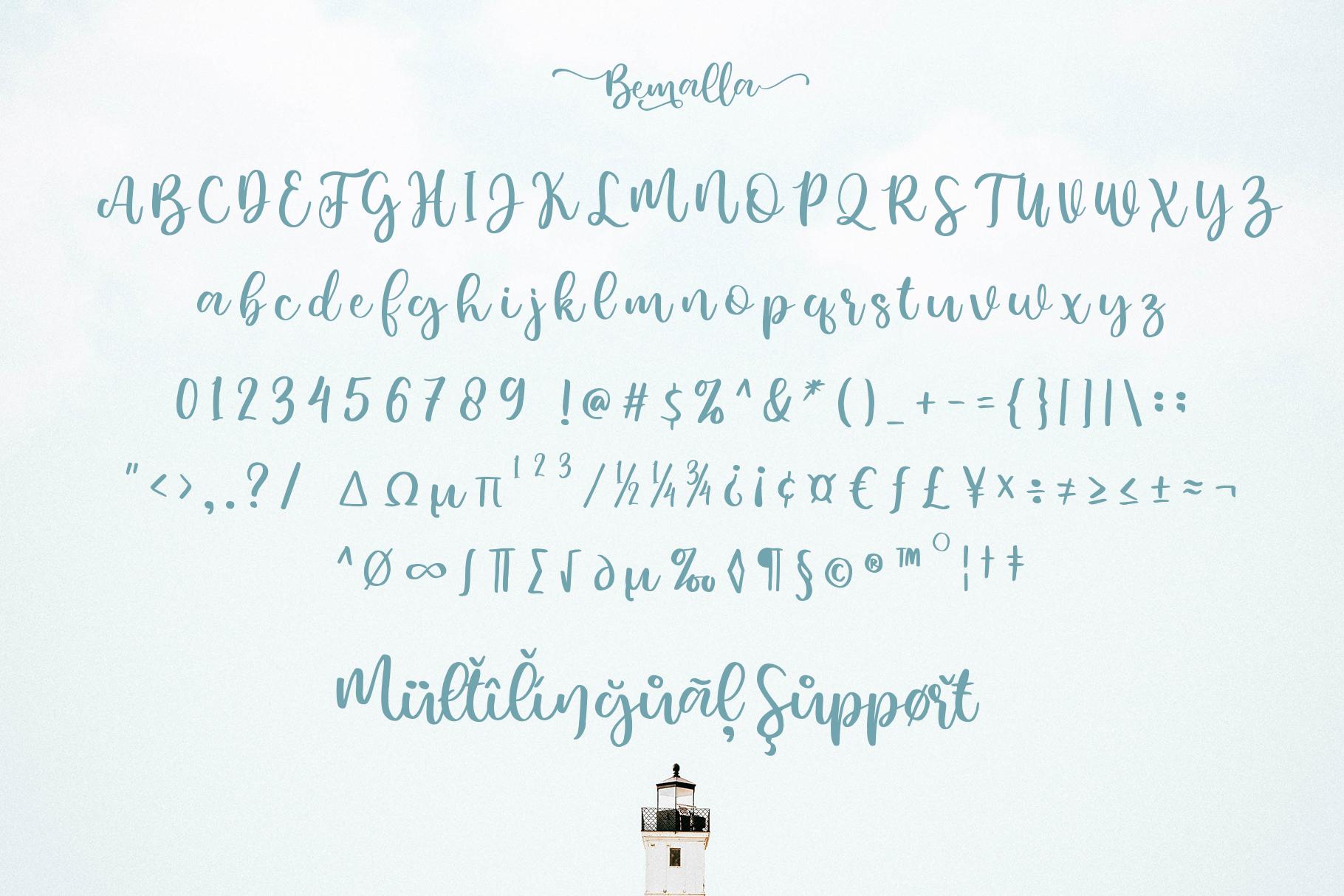 Bemalla Font example image 4