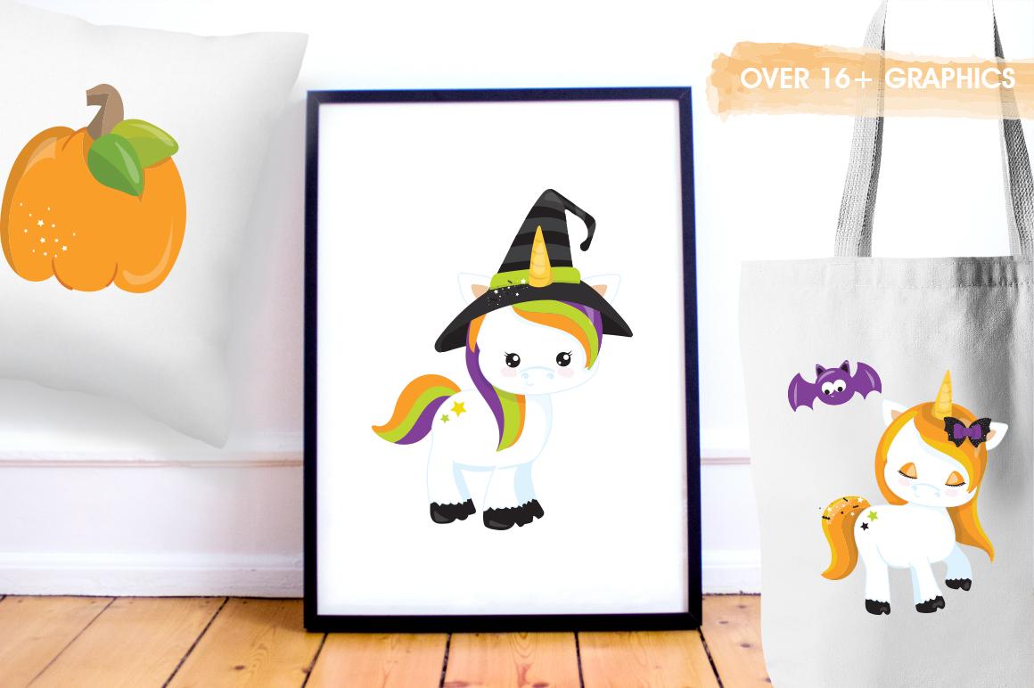 Unicorn Halloween graphic and illustrations example image 2