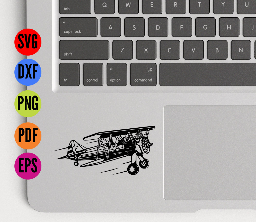 Vintage Aeroplane / Airplane  SVG Cutting File  example image 3