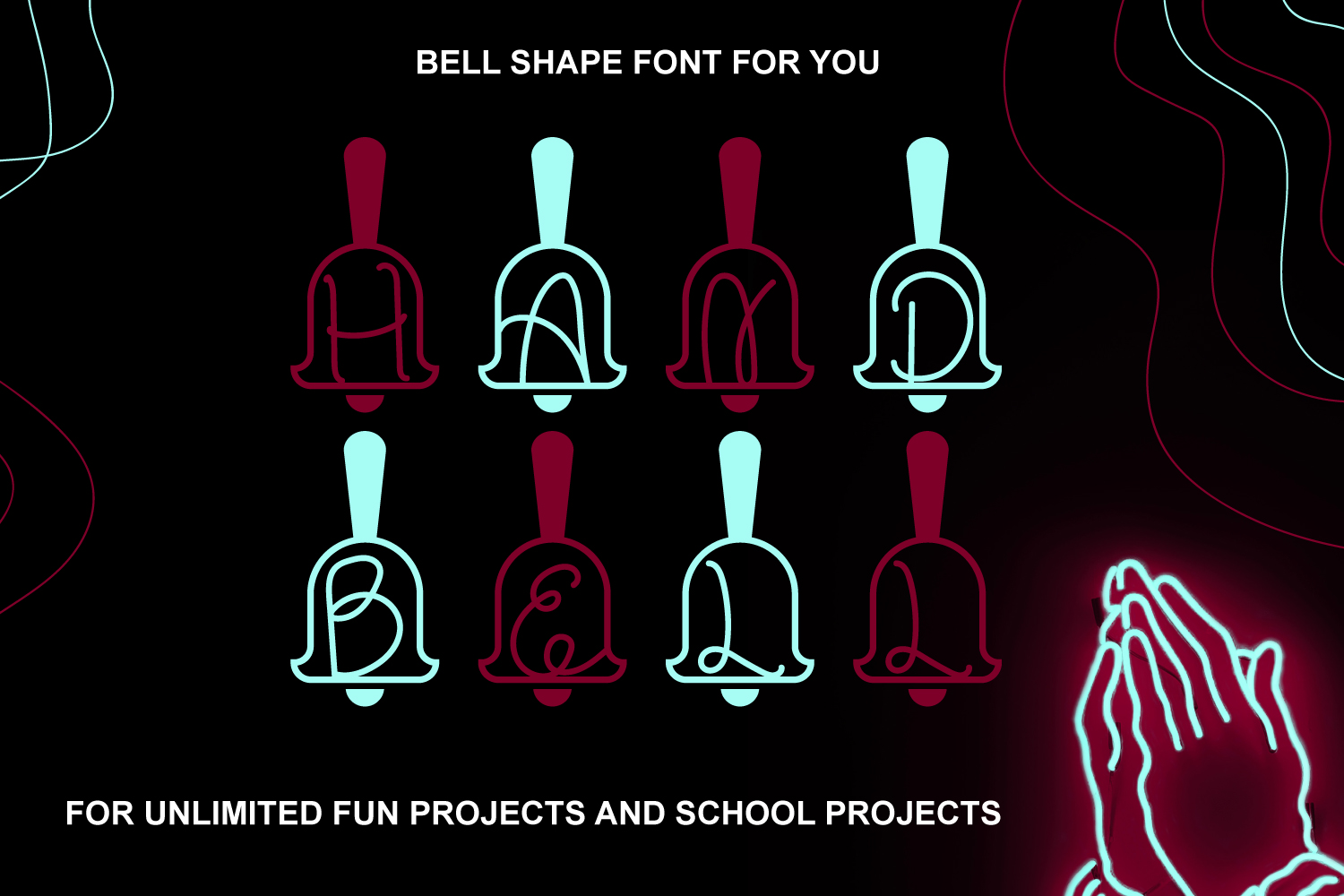 Hand Bell Font example image 1