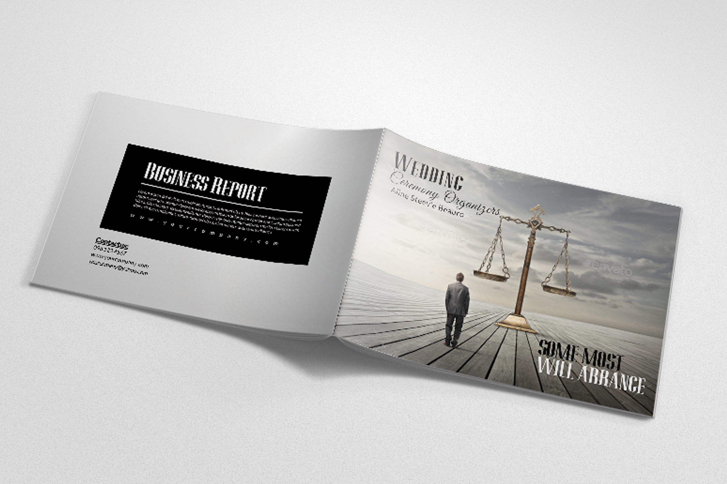 Business Corporate Bifold Brochure example image 2