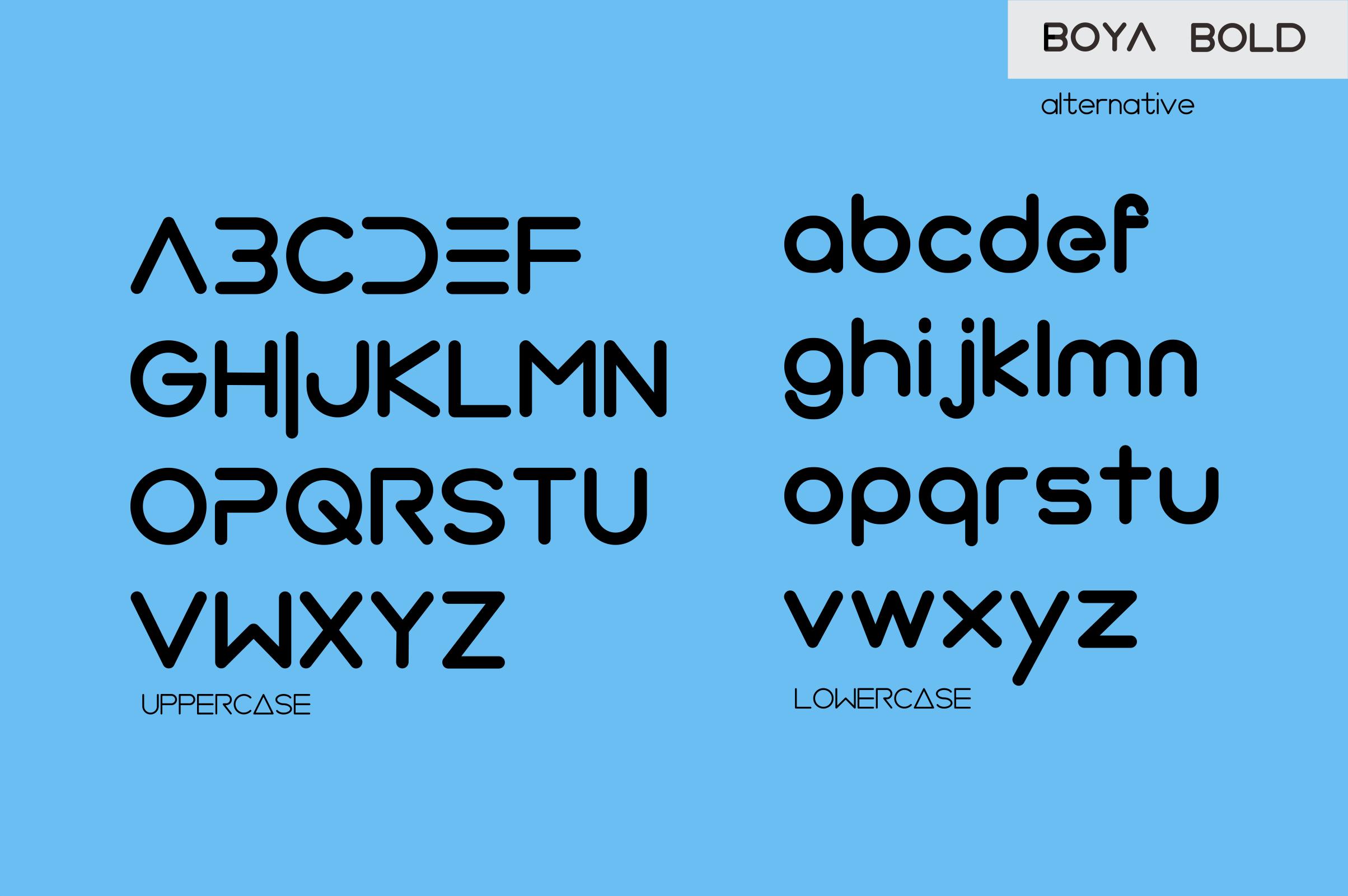 BOYA (rounded Font) example image 8