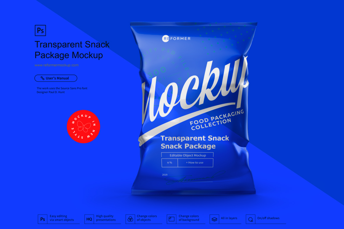 Transparent Snack Package Mockup example image 3