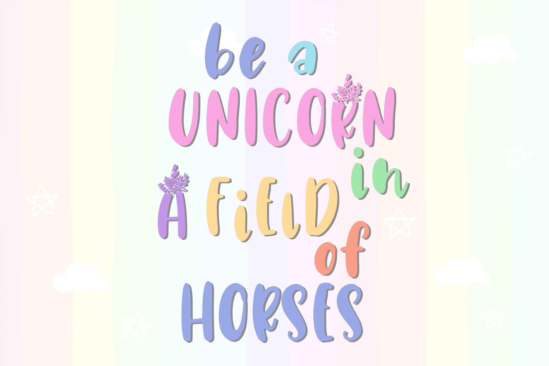 Unicorn Horn Font example image 2
