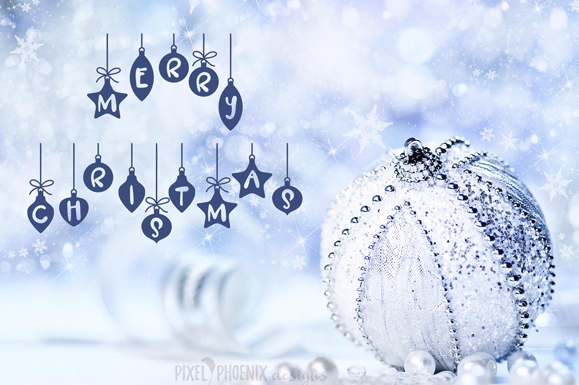 Christmas Font - Festive Balls example image 2