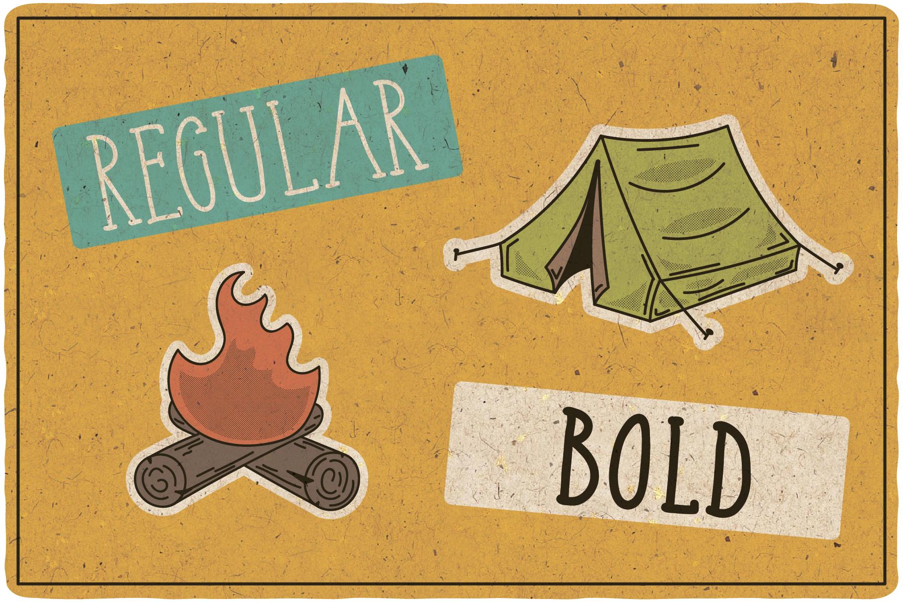 Adventure Typeface plus bonus graphics example image 3