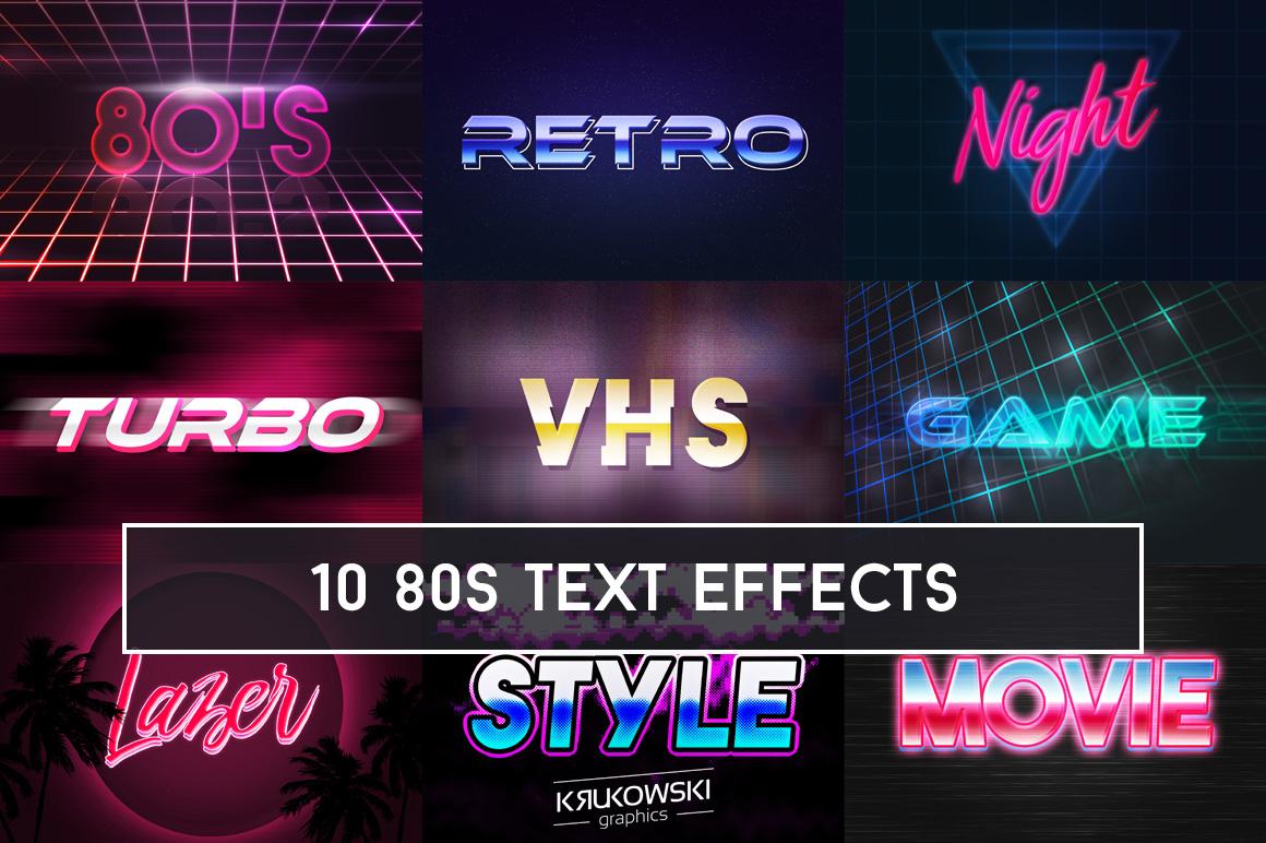 80's Retro Text Effect Mockup example image 1