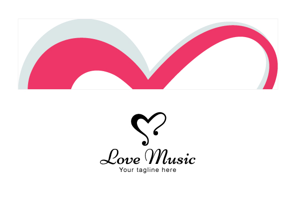 Love Music - Alphabetic Stock Logo Template example image 3