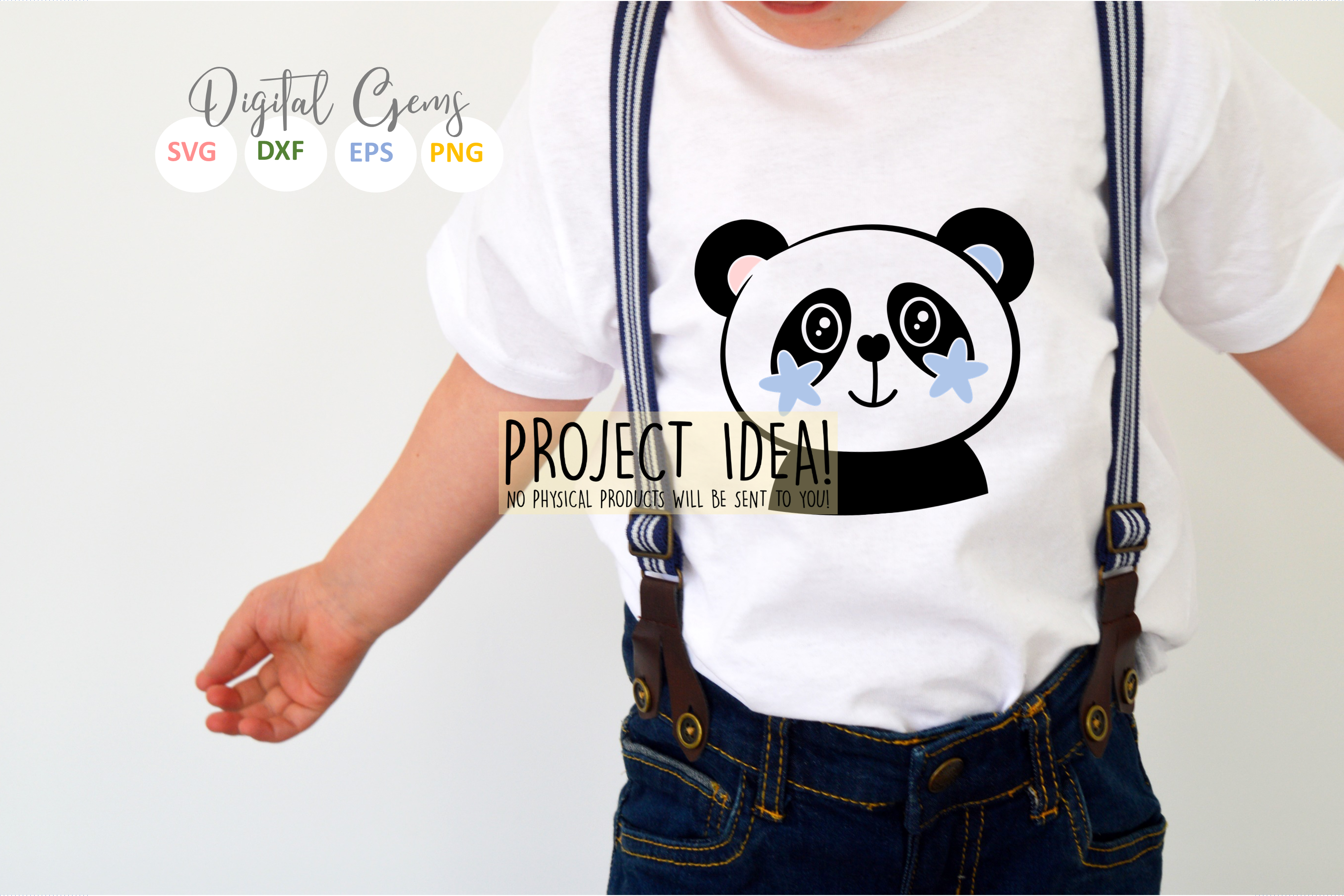 Panda designs. SVG / PNG / EPS / DXF Files example image 4