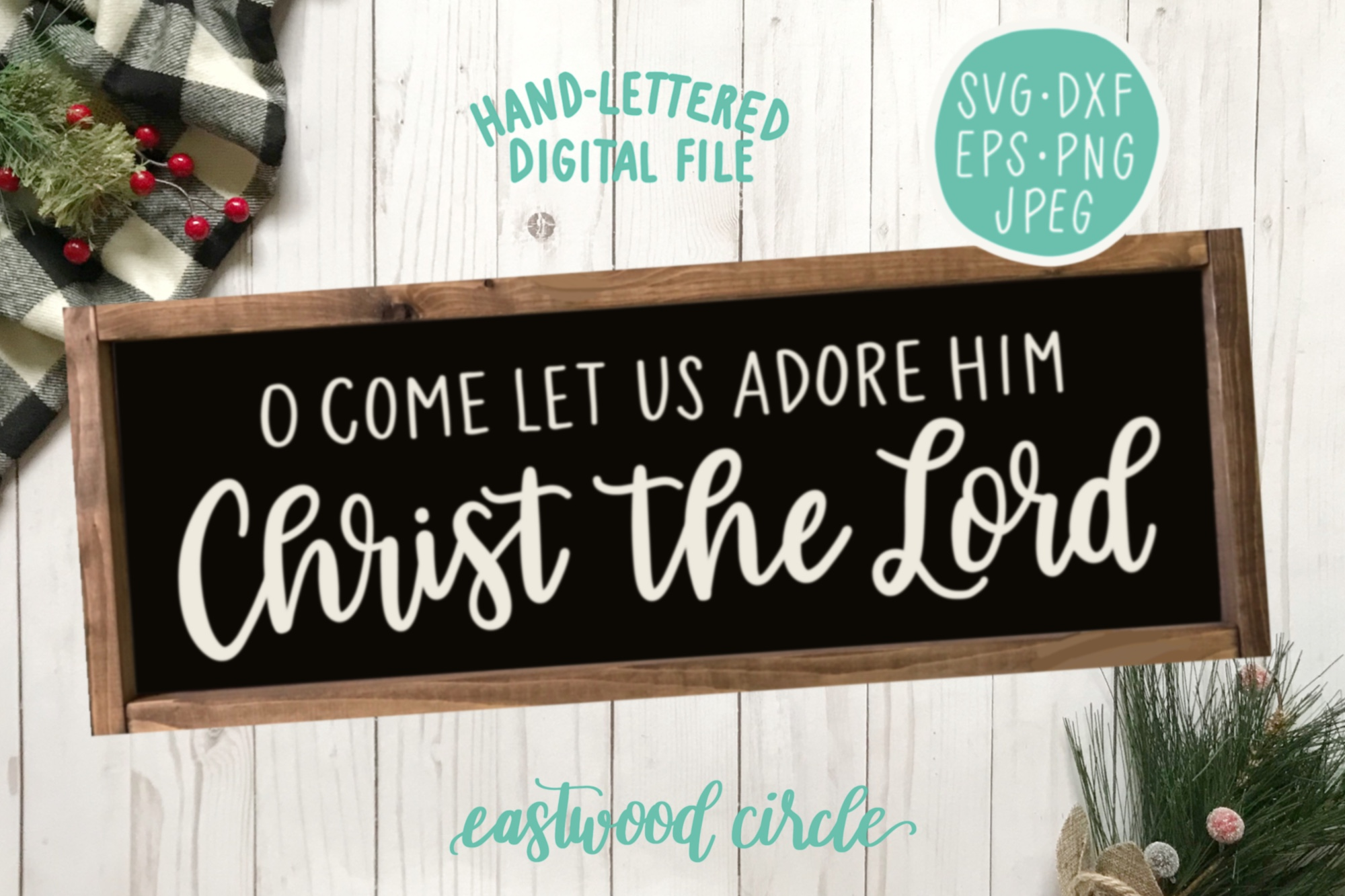 Christmas SVG Bundle - Hand Lettered Cut Files for Signs example image 3