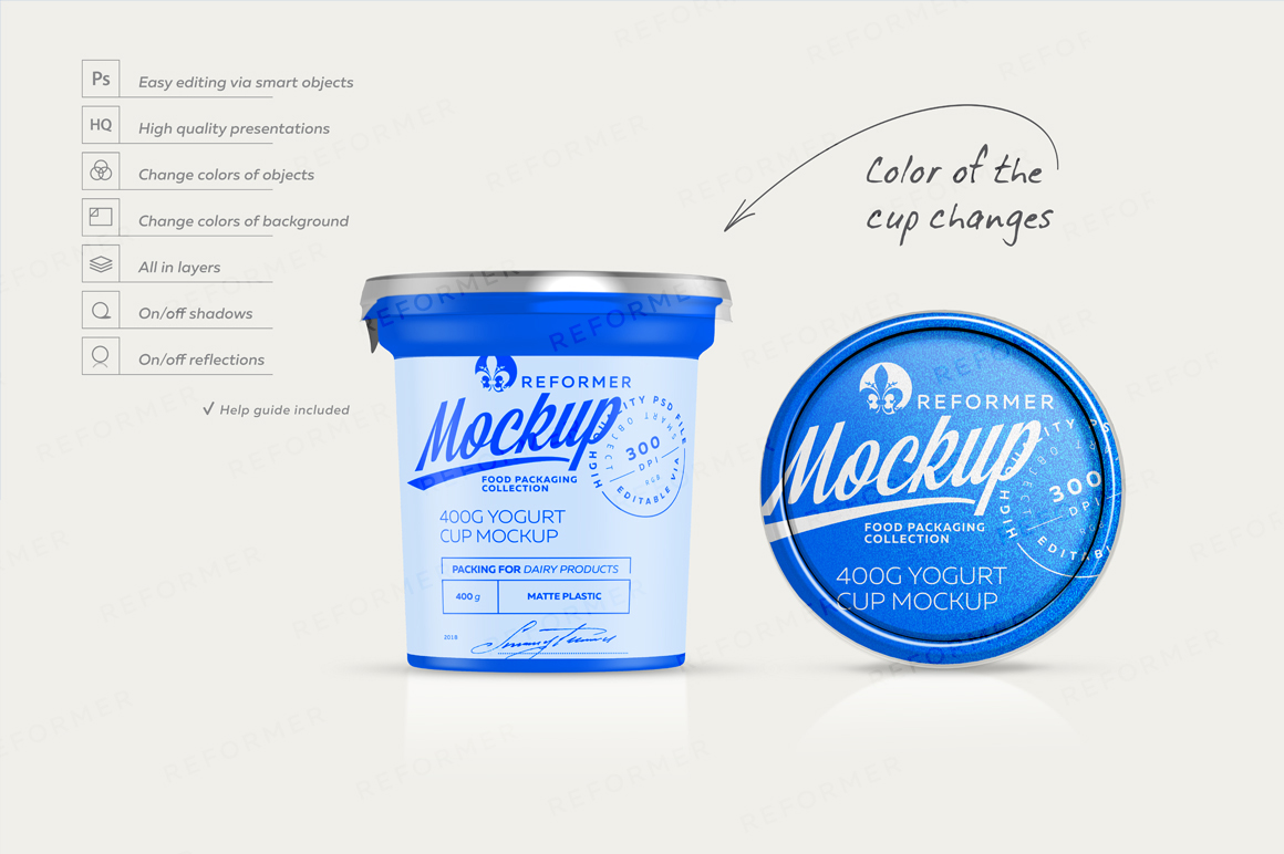 400G YOGURT CUP MOCKUP example image 5