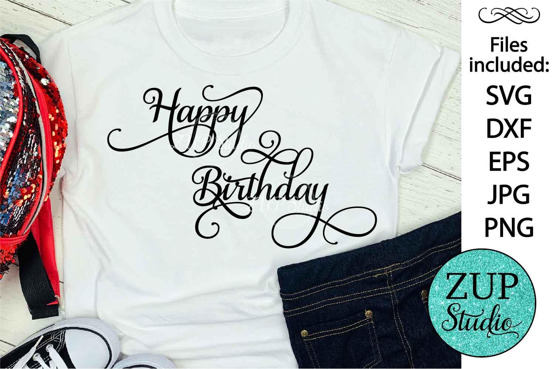 Happy Birthday Digital Cutting files file 162 example image 1