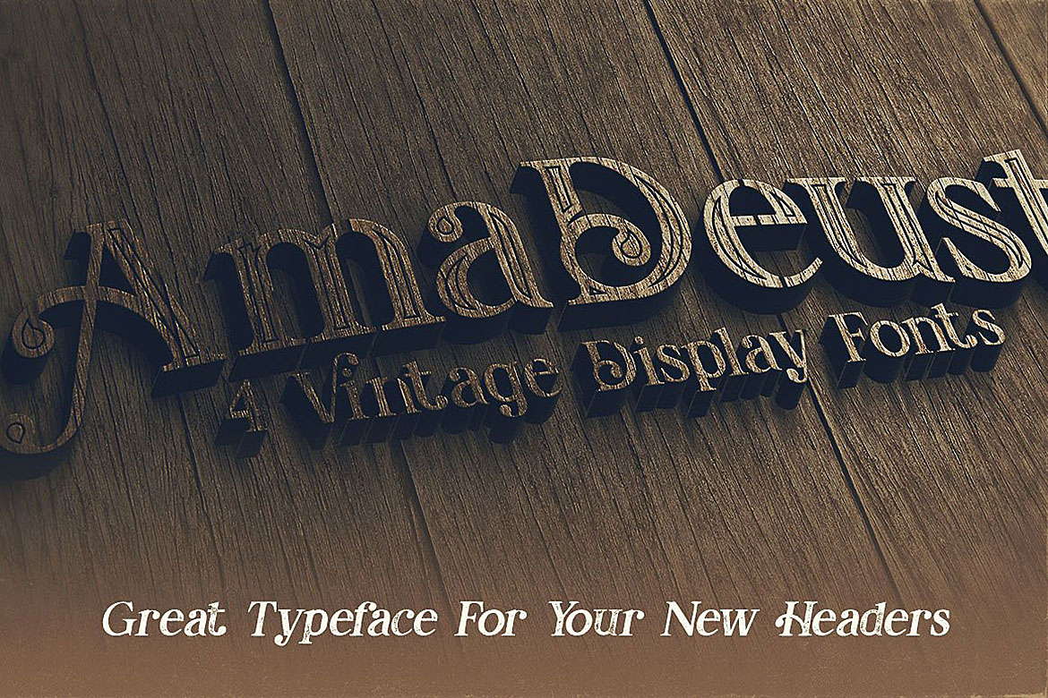 AmaDeust - Display Font example image 5